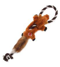 Hračka DOG FANTASY Skinneeez s provazem liška 35 cm