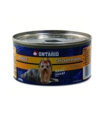 Ontario Chicken Pieces & Gizzard konzerva - kuracie kúsky & žalúdky pre dospelých psov 200 g