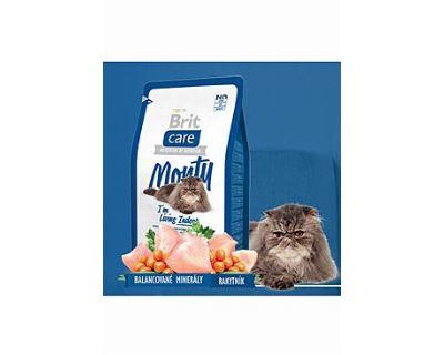 Brit Cat Monty I`m Living Indoor - kura & ryža pre mačky žijúce vo vnútri 2 kg