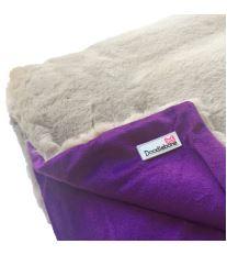 Doodlebone luxusní měkká deka, fialová