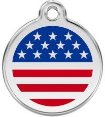 Red Dingo Známka modrá vzor americká vlajka