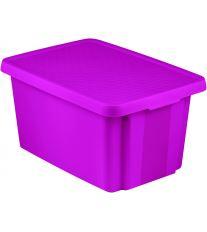 Curver Úložný box ESSENTIALS 45l s víkem fialový