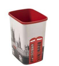 Curver odpadkový koš, DECO FLIP BIN, vzor Londýn, 25l