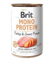Konzerva BRIT Mono Protein Turkey & Sweet Potato 400g