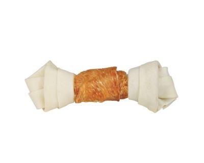 Trixie Dentafun Uzol z byvolej kože zviazaný kuracím mäsom