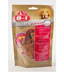 8in1 Fillets pre skin & coat pochúťka pre lesklú srsť - veľkosť S 80 g