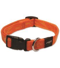 Obojok pre psov nylonový - Rogz Alpinist - oranžový - 1,6 x 26 - 40 cm