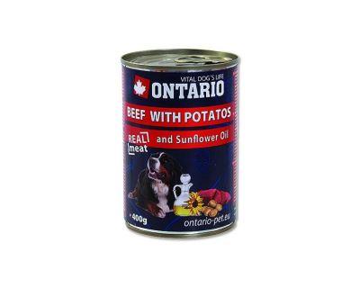 Ontario Beef, Potatoes, Sunflower Oil konzerva - hovädzie & zemiaky & slnečnicový olej pre dospelých psov