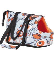 Taška na psa Argi z polyesteru - oranžová so vzorom - 42 x 26 x 30 cm