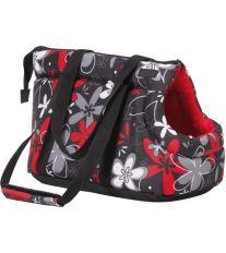 Taška na psa Argi z polyesteru - červená so vzorom - 42 x 26 x 30 cm