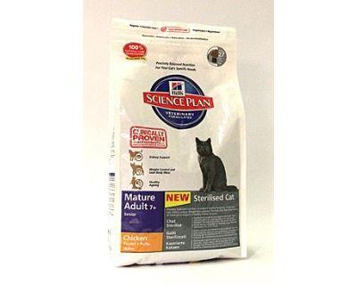 Hill 's Feline Dry Adult Mature 7+ Sterilized - pre kastrované mačky od 7 rokov
