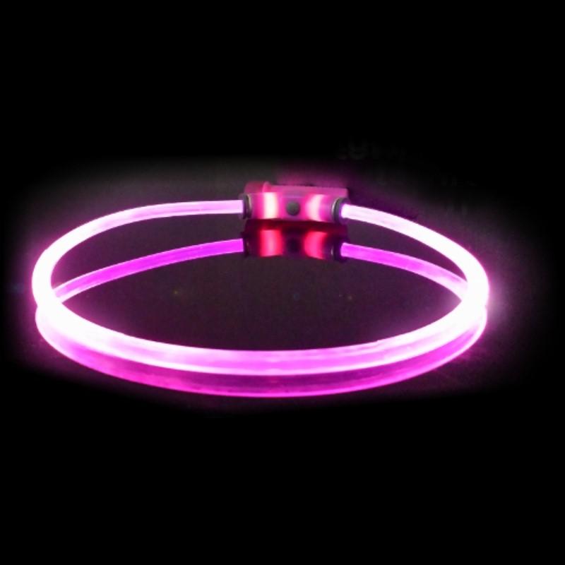 ce32efc810 Obojok pre psov svietiace - Red Dingo Lumitube led - fialový - 15 - 80 cm