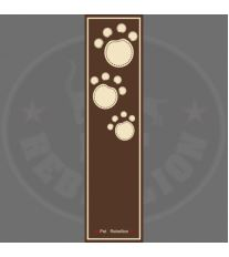 PET REBELLION Běhoun, hnědý s tlapkami 45x150cm