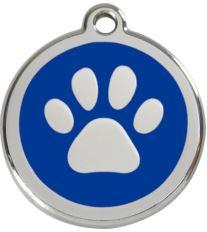 Red Dingo Známka modrá vzor labka