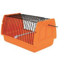 Prepravka pre vtáky 22x14x15cm plast oranžová TR 1ks
