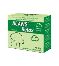 Alavis Relax 75 mg pre psov a mačky - na upokojenie pri strese, 20 tabliet