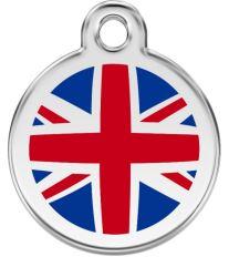 Red Dingo Známka malá průměr 20 mm - UK vlajka - Modrá