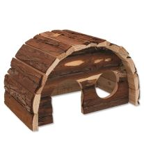 Domček SMALL ANIMAL Hobit drevený 25 x 16 x 15 cm