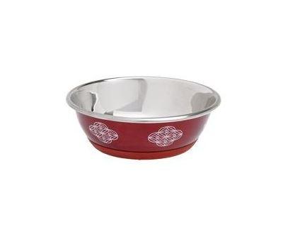 Miska nerez Dog SELECTA motív 950ml 16cm KAR červená