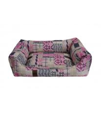 Pelech pre psa Argi obdĺžnikový - odnímateľný povlak z polyesteru - Rosie - 60 x 45 cm