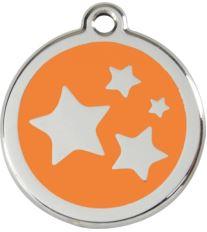 Red Dingo Známka oranžová vzor Hviezdičky