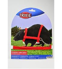 Trixie Nylonový Postroj pre fretky a potkany, 125x0,8 cm