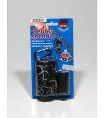 Puzdro nylon Čierny + sáčky na psie exkrement 2x20ks TR