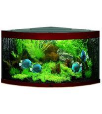 Juwel Trigon 190 akvárium set rohový tmavo hnedý 98x60x50 cm, objem 190 l