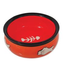 Miska MAGIC CAT keramická s rybkou oranžová 12,5 cm