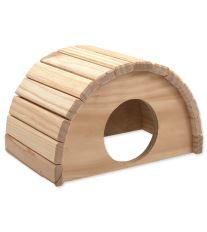 Domček SMALL ANIMAL Polkruh drevený 24 x 17 x 15 cm