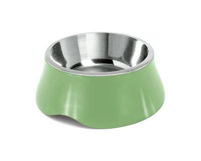 Miska pre psa Argi - nerez / plast - zelená - 1900 ml