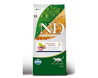 N&D Low Grain Cat Adult Lamb & Blueberry - jahňacie & čučoriedky s nízkym obsahom obilnín pre dospelé mačky 10 kg