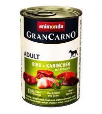 Animonda Gran Carno Adult Konzerva pre psov - králik & bylinky