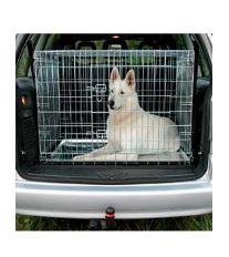 Klietka do auta pre psa kovová 93x69x62cm TR
