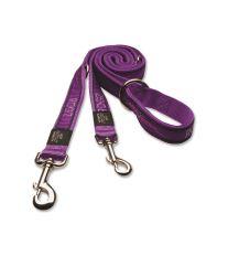 Vodítko pre psov prepínacie nylonové - Rogz Fancy Dress Purple Chrome - 1,6 x 160 cm