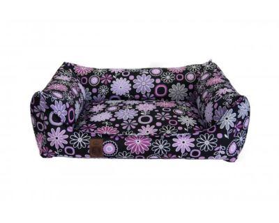 Pelech pre psa Argi obdĺžnikový - odnímateľný povlak z polyesteru - Daisy - 60 x 45 cm