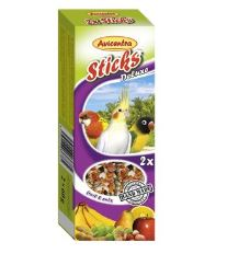 Avicentra tyčinky malý papagáj - ovocie + orech 2ks