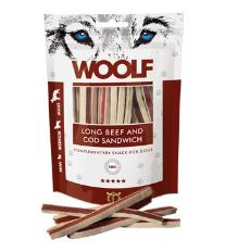 Woolf soft beef and cod sandwich long 100 g