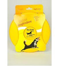 Hračka pes létající talíř Dr.Dog HARD 21cm  ŽLUTÝ