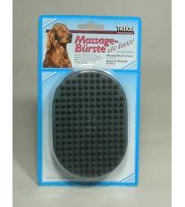 Kartáč gumový dlaňový De Luxe pro psy 13/9cm TR