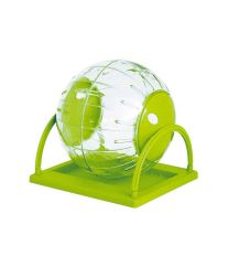 Guľa so stojanom pre hlodavce Argi - zelená - 18,5 cm