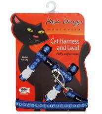 Red Dingo Postroj s vodítkem - kočka - Cosmos Blue