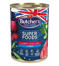 Butcher's Dog Superfood dršťky a hovězí konz. 400g