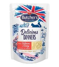 Butcher's Cat Class.Delic.Dinn. losos+dorada kapsa100g