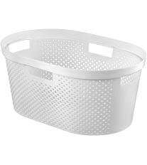 Curver Koš na čisté prádlo INFINITY 39L bílý puntíky