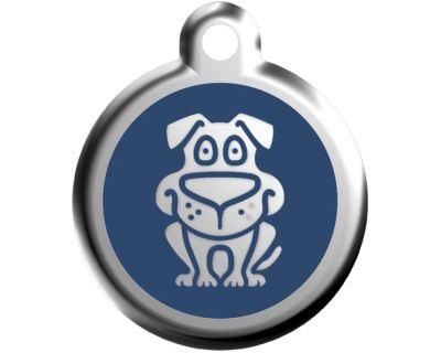 Red Dingo Známka modrá vzor pes