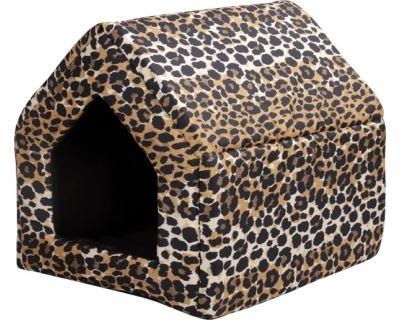 Bouda pro psy a kočky Argi - vzor leopard - 38 x 38 x 38 cm