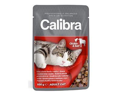 Calibra Cat kapsička kuracie a hovädzie v omáčke 100 g