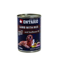 Ontario Lamb, Rice, Sunflower Oil konzerva - jahňacie & ryža & slnečnicový olej pre dospelých psov