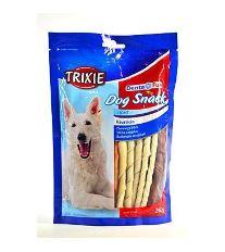 Trixie Dentafun Dog Bits Krútené tyčinky z byvolej kože 260 g